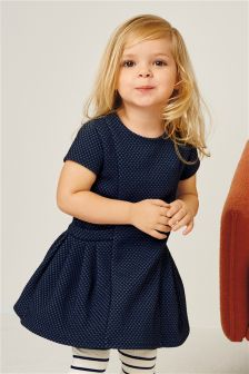 Navy Ponte Tunic (3mths-6yrs)