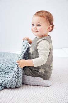 Grey Star Dress (0mths-2yrs)