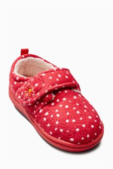 Red Spot Slippers (Younger Girls)
