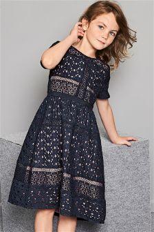 Navy Lace Dress (3-16yrs)