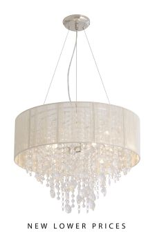 Palazzo 3 Light Glass And String Chandelier
