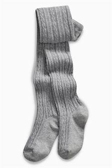 Grey Cable Knit Tights (3-16yrs)