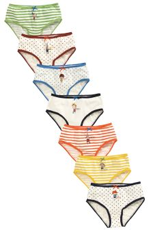 Multi Bright Day Of The Week Briefs Seven Pack (1.5-12yrs)