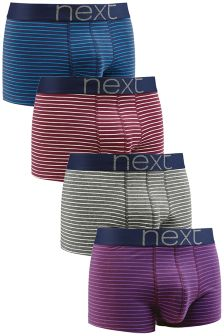 Multicolour Stripe Hipsters Four Pack