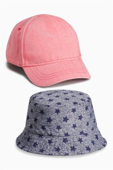Coral/Star Hats Set Two Pack (Younger Girls)