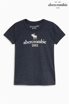Abercrombie & Fitch Navy Moose Print Tee