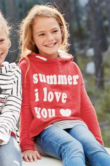 Red Summer I Love You Hoody (3-16yrs)