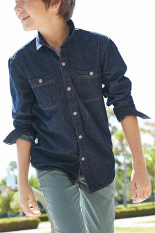 Denim Long Sleeve Shirt (3-16yrs)