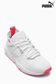 Puma® White/Pink Blaze Of Glory Sock Trainer