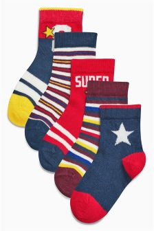 Red Star Socks Five Pack (Younger Boys)