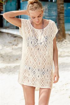 Cream Lace Cover Up