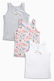 Multi Bright Unicorn Vests Three Pack (1.5-12yrs)