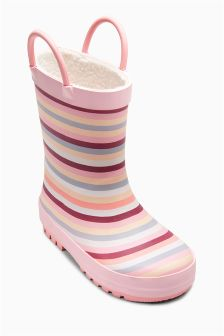 Pink Stripe Wellies (Younger Girls)