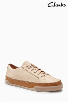 Clarks Nude Leather Cushion Plus Hidi Holly Lace Up Sneaker