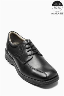 Black Chunky Lace Shoes (Older Boys)