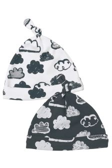 Monochrome Milestone Hats Two Pack (0-12mths)