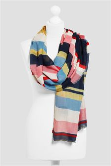 Blue Multi Stripe Scarf