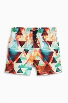 Orange Geo Swim Shorts (3mths-16yrs)