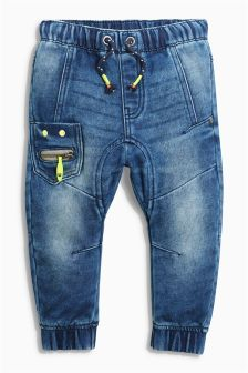 Dark Blue Rivet Face Jeans (3mths-6yrs)