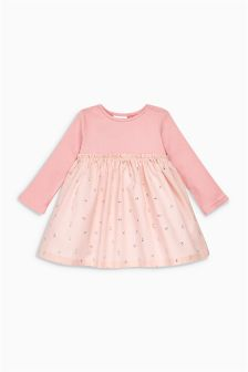 Pink Print Dress (0mths-2yrs)