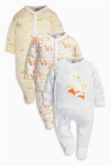 Bright Duck Sleepsuits Three Pack (0mths-2yrs)