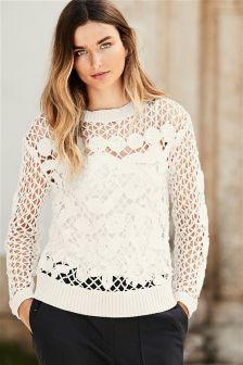 Floral Stitch Sweater