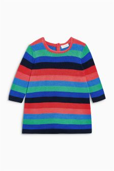 Multi Stripe Knitted Dress (0mths-2yrs)