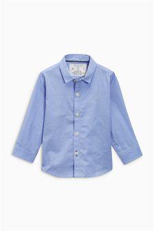 Blaues Hemd mit langen Ärmeln (3 Monate bis 6 Jahre)