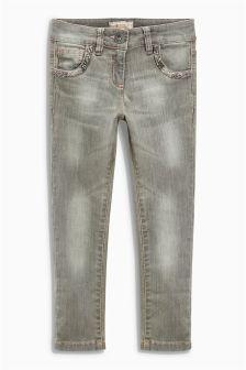 Grey Jewel Skinny Jeans (3-16yrs)