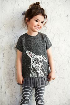 Grey Rabbit Leggings Two Piece Set (3mths-6yrs)