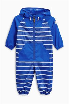 Cobalt Stripe Puddlesuit (3mths-6yrs)