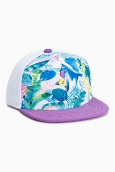 Bright Tropical Print Cap (Older Girls)