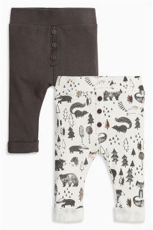 Multi Printed Joggers Two Pack (0mths-2yrs)