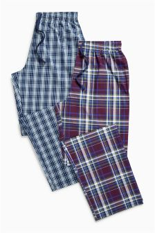Blue/Purple Check Long Bottoms Two Pack