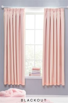 Cotton Black Out Pencil Pleat Curtains