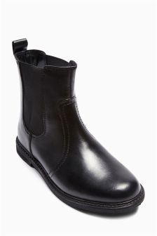 Black Chelsea Ankle Boots (Older Girls)