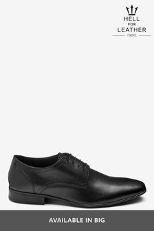 Black Plain Derby Lace-Up