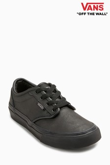 Black Vans Black Leather Atwood