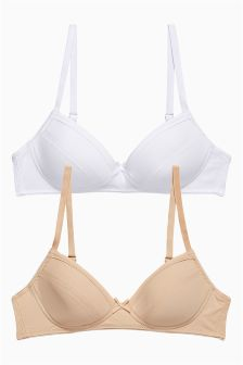 Nude/White Trainer Bras Two Pack (Older Girls)