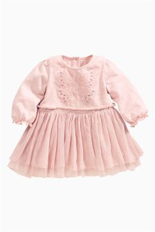 Pink Butterfly Dress (0-18mths)