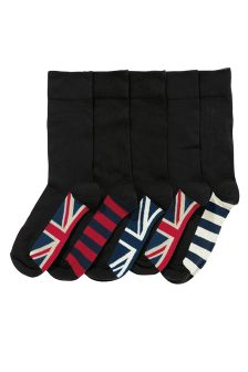 Black Union Jack Flag Socks Five Pack