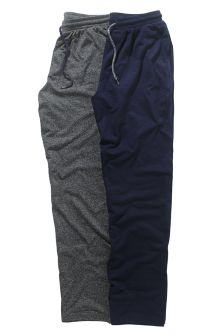 Grey/Navy Jersey Long Bottoms Two Pack