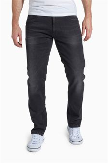 Black Washed Jeans With Stretch