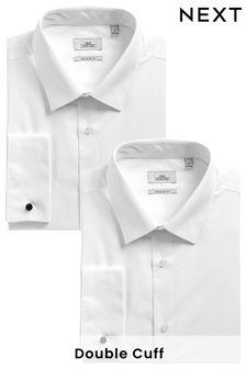 Two Pack Plain White Shirts