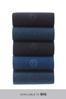Five Pack Navy/Black Socks