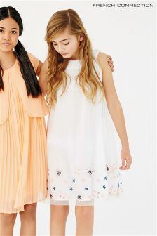 White French Connection Embellished Dress
