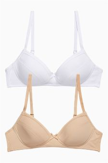 Nude And White Trainer Bra Two Pack (Older Girls)