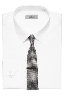 Plain White Forward Point Collared Shirt