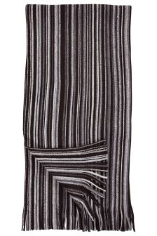 Black Vertical Stripe Scarf