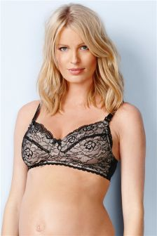 Black Lace Bra (Maternity)
